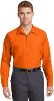 Red Kap Mens Long Sleeve Industrial Work Shirt,ong