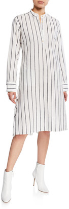 Palmer Harding Alexandria Striped Long-Sleeve Shirtdress