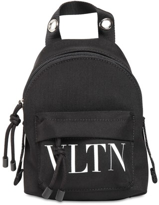 Valentino Mini Vltn Print Nylon Backpack
