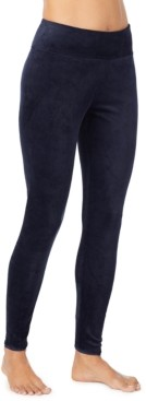 Cuddl Duds Petite Double-Plush Velour Leggings