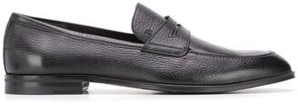 Bally Webb grained-effect penny loafers