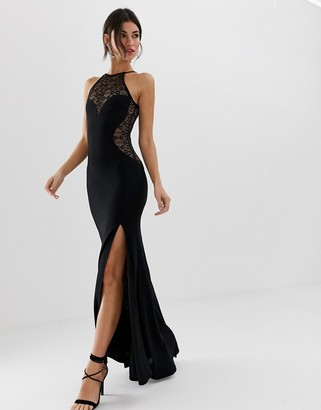 TFNC high neck lace maxi dress