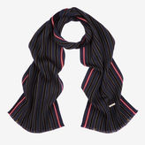 Bally Double Faced Wool Scarf Blue, Men's wool scarf in multi-ink
