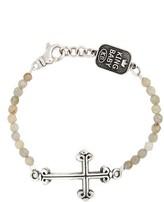 King Baby Studio Men's Labradorite Cross Bracelet