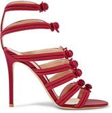Gianvito Rossi Regalia Embroidered Satin Sandals - IT35