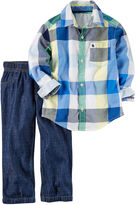 Carter's Boys 2-pc. Long Sleeve Pant Set-Toddler