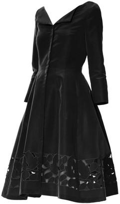 Carolina Herrera Cutout Silk Faille Dress