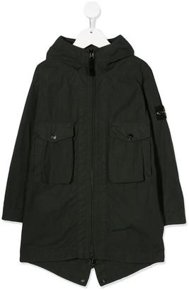 Stone Island Junior Hooded Raincoat