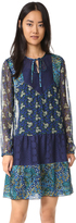 Anna Sui Flourish Print Combo Dress