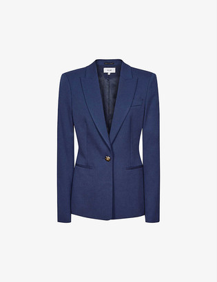Reiss Sienna single-breasted stretch-woven blazer