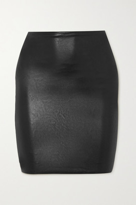 Commando Faux Stretch-leather Mini Skirt - Black