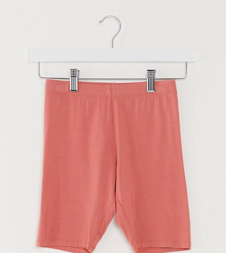 ASOS DESIGN Petite basic legging short in terracotta
