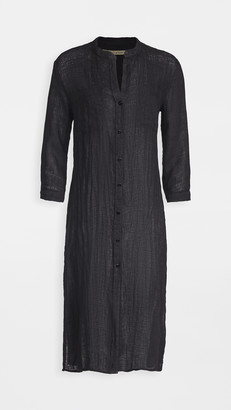 Enza Costa Linen Gauze Shirtdress