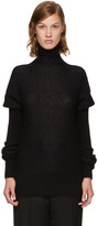 Lemaire Black Mohair Puff Sleeve Turtleneck