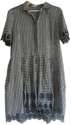 Suno Blue Cotton Dress for Women