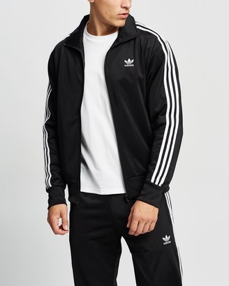 adidas Men's Black Jackets - Adicolor Classics Firebird Track Jacket - Size S at The Iconic