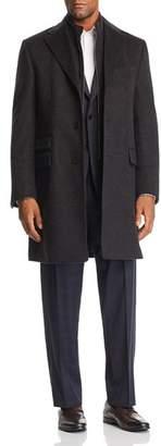 Corneliani ID Wool Topcoat with Zip-Out Bib