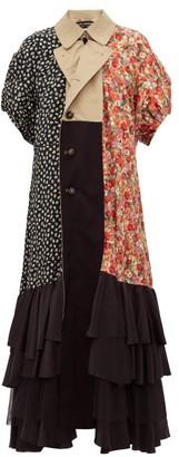 Junya Watanabe Reversible Panelled Cotton-blend Trench Coat - Womens - Beige Multi