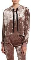 EMORY PARK Velvet Hooded Shirt