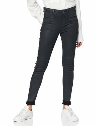 G Star Women's Ashtix Zip High Waist Super Skinny Ankle Jeans