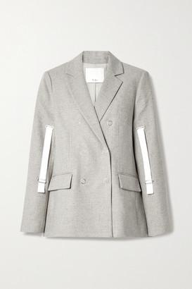 Tibi Lola Canvas-trimmed Tweed Blazer - Gray