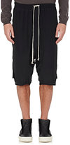 Rick Owens Men's Crêpe De Chine Shorts-BLACK