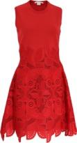 Antonio Berardi Crewneck Macrame Dress