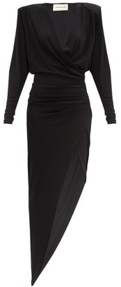 Alexandre Vauthier Asymmetric Gathered Jersey Dress - Black