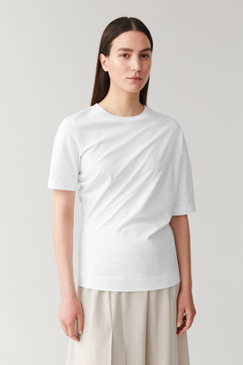 Cos Asymmetric Organic-Cotton T-Shirt