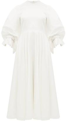 Roksanda Fife Balloon Sleeve Cotton-poplin Dress - Womens - Ivory