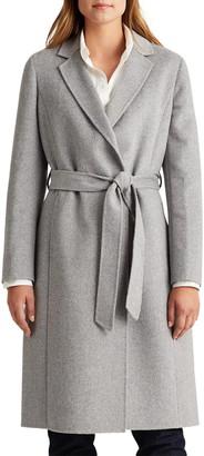 Lauren Ralph Lauren Double Face Wool Blend Wrap Coat