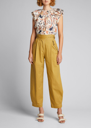 Ulla Johnson Dune High-Rise Cotton Trousers