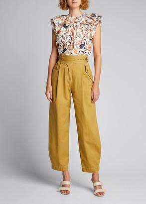 Ulla Johnson Dune High-Rise Cotton Trousers