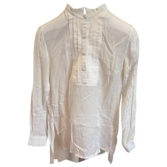Antipodium White Silk Top for Women
