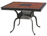 Bergeson Dining Table Astoria Grand Table Color: Antique Bronze, Tile Color: Ruby Red