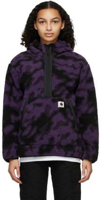 Carhartt Work In Progress Purple and Black Fleece Loon Hoodie