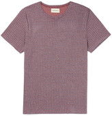 Oliver Spencer Conduit Slim-Fit Patterned Cotton-Jersey T-Shirt