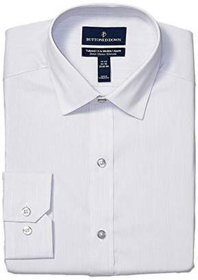 Buttoned Down Men's Tailored Fit Tech Stretch CoolMax Easy Care Dress Shirt