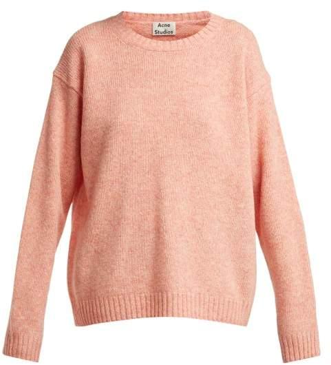 Acne Studios Samara Wool Sweater - Womens - Light Orange