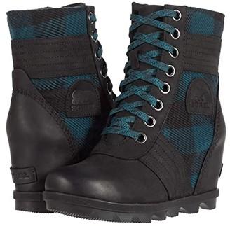 Sorel Lexietm Wedge (Black) Women's Lace-up Boots