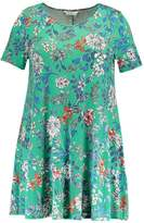 Evans FLORAL SWING Jersey dress green