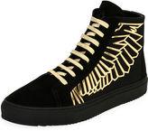 Marcelo Burlon County of Milan Coralie Wings Suede High-Top Sneaker