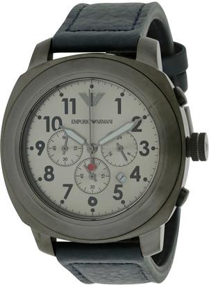 Giorgio Armani Men's Leather Strap Watch