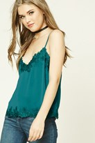 Forever 21 FOREVER 21+ Lace-Trimmed Satin Cami
