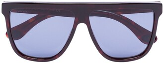 Gucci Straight Brow Tinted Sunglasses