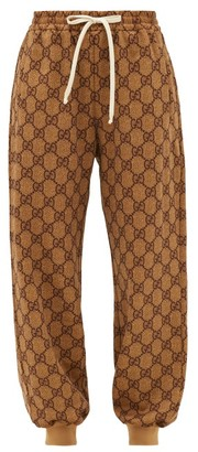 Gucci GG-diamond Jacquard Track Pants - Womens - Beige Multi