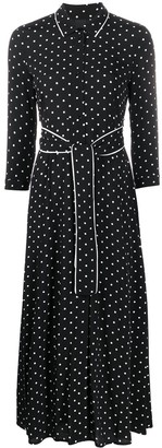 Pinko Polka-Dot Shirt Dress