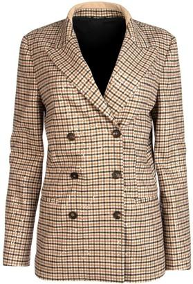 Brunello Cucinelli Sequins Embellished Checked Blazer