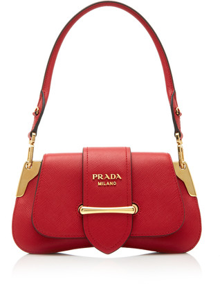 Prada Mini Sidonie Leather Shoulder Bag