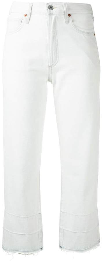 Citizens of Humanity frayed cropped jeans